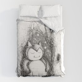 Snoozy Snorlax Duvet Cover