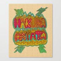hakuna Canvas Prints featuring Hakuna Color by Diego Tirigall