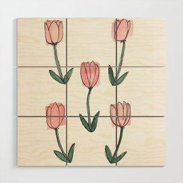 Tulips Wood Wall Art