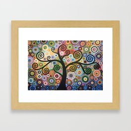 Abstract Art Landscape Original Painting ... She Dreams In Color Framed Art Print