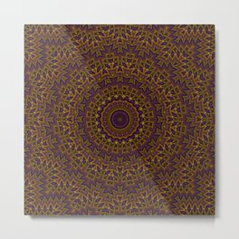 mandala, kaleidoscope, ornament, ethnic ornament, elegant, round ornament, tribal, folklore, circle, Metal Print