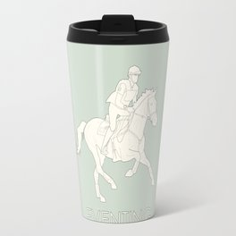 Eventing in green Travel Mug