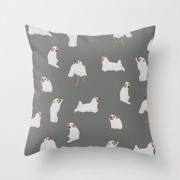Ghost Dog Print - Gray Throw Pillow