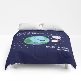Love You to the Moon and Back Again Comforters