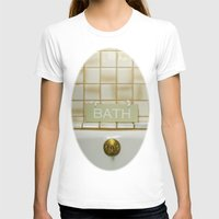 bath T-shirts featuring Bath by Misspeden