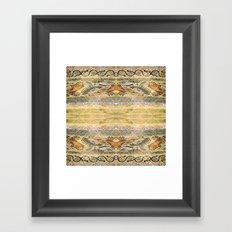 Mosaic fish Framed Art Print
