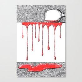 Spilt Wine Canvas Print
