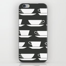 Pattern of Coffee and Tea Cups iPhone Skin