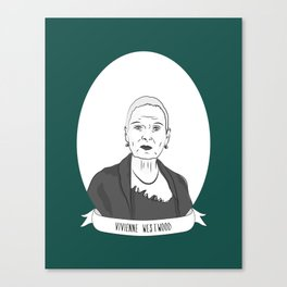 Vivienne Westwood Illustrated Portrait Canvas Print