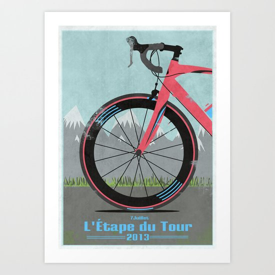 L'Etape du Tour Bike Art Print