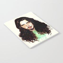 Fell on Black Days- A portrait by Indigo East Notebook