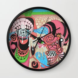 underground production Wall Clock