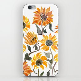 Sunflower Watercolor – Yellow & Black Palette iPhone Skin