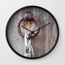 Rusty Lock Wall Clock