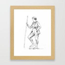 Vintage Sportswoman Framed Art Print