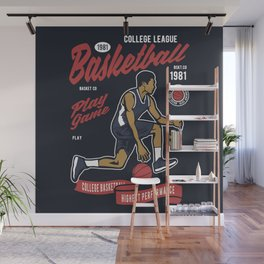 Basketball College League by ANIMOX Wall Mural