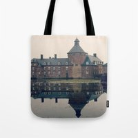 castle Tote Bags featuring Castle by DuniStudioDesign