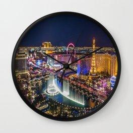 Las Vegs Strip Wall Clock