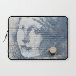 "Banksy ""Girl with a Burst Eardrum"" Laptop Sleeve"