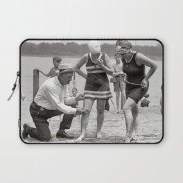 Beach Police, 1922. Vintage Photo Laptop Sleeve