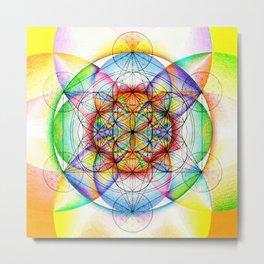 Sunrise - The Sacred Geometry Collection Metal Print