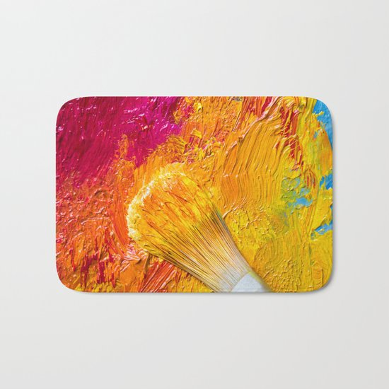 oil painting Bath Mat