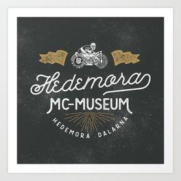 Hedemora MC-museum Art Print