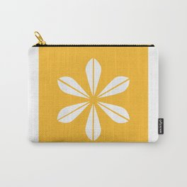 Mustard Yellow and White Cathrineholm Lotus Carry-All Pouch