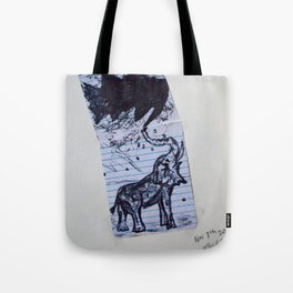 Greasy Elephant Tote Bag