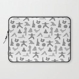 Grey Yoga Pattern Laptop Sleeve