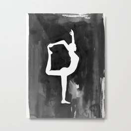 Dancer Pose - Yoga Metal Print