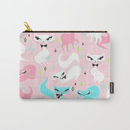 Swanky Kittens on Pink Carry-All Pouch