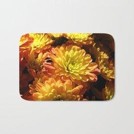 Fall Chrysanthemums Bath Mat