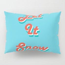 Retro Let it Snow Pillow Sham