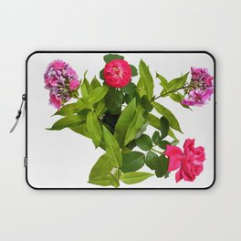 Roses and Phlox Bouquet in a Bird's Eye View Laptop Sleeve
