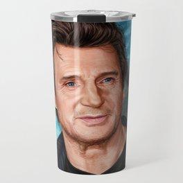 Liam Neeson's portrait Travel Mug
