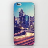 atlanta iPhone & iPod Skins featuring Atlanta Downtown by GF Fine Art Photography