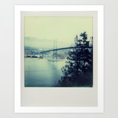 Lions Bridge - Polaroid Art Print