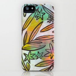 Bright Colorful Jungle Canopy iPhone Case