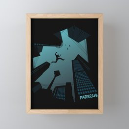 Parkour Framed Mini Art Print