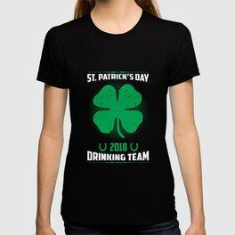 St. Patrick's Day 2018 Drinking Team Shamrock Irish T-shirt