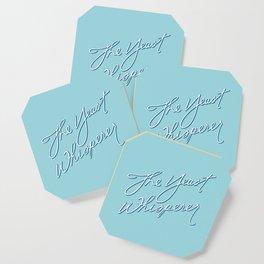 The Yeast Whisperer (Handwritten) Coaster