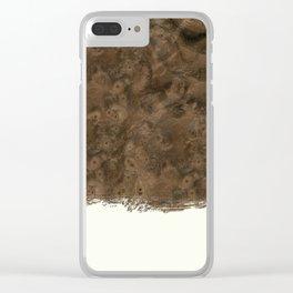 Dipped Wood - Walnut Burl Clear iPhone Case