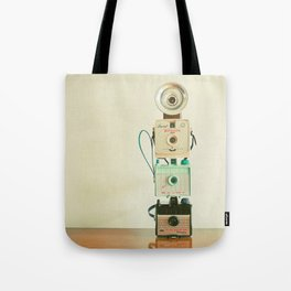 Tower of Cameras Tote Bag