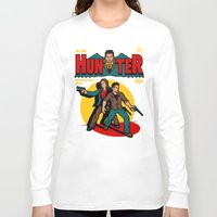 comic Long Sleeve T-shirts featuring Hunter Comic by harebrained
