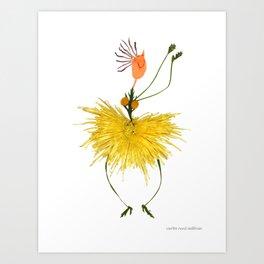 Twirlin' Curlin Art Print
