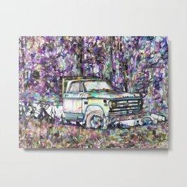 Old Rusty Truck Metal Print