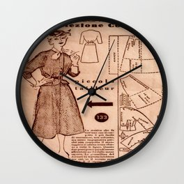 1950's vintage sewing pattern VIII Wall Clock