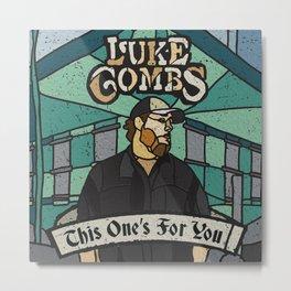 luke combs album 2020 atin12 Metal Print