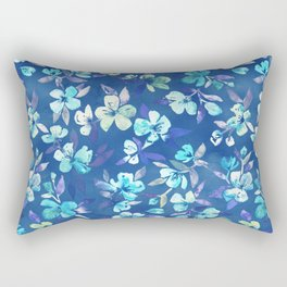 Grown Up Betty - blue watercolor floral Rectangular Pillow